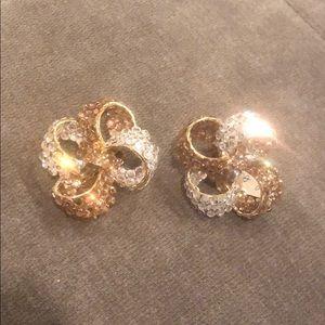 Vintage Light Colorado & Clear Crystal Custom Bows